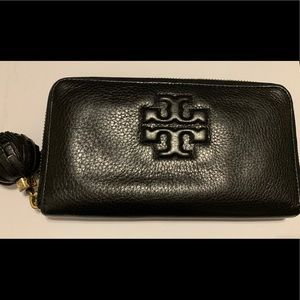 Tory Burch Thea Pompom Continental Wallet